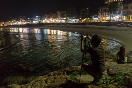 """Night-sky-photography-crash-course"" on Kovalam Beach"